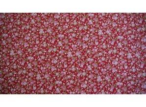 Sevenberry Rode ondergrond met kleine roosjes
