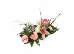 Arrangement stijlvol roze