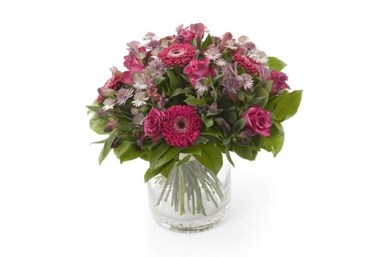 Roze gemengd boeket bloemisterij de madelief