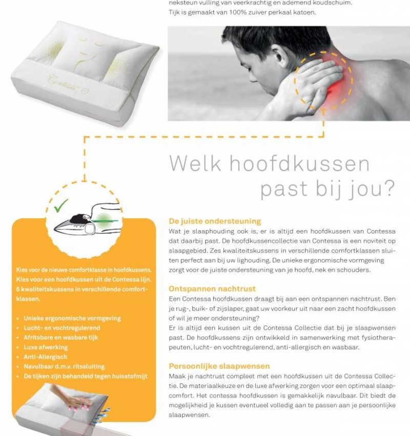 Hoofdkussen Comfortklasse 3 Medium Soft
