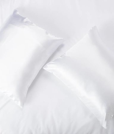 Satin pillow case White