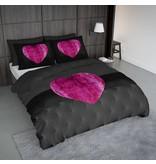 Nightlife Concept Dekbedovertrek Fur Heart Fuchsia Roze