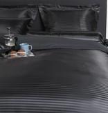 Nightlife Satin Dekbedovertrek Satin Stripe Zwart