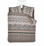 Nightlife Fresh Dekbedovertrek Bohemian Taupe Flanel