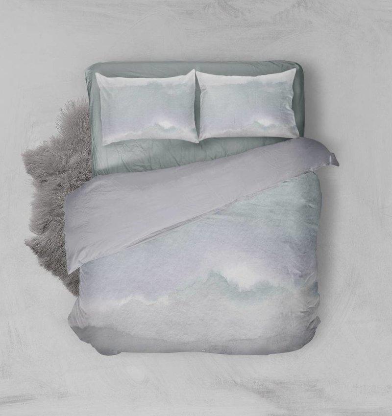 Nightlife Blue Dekbedovertrek Watercolor Blauw