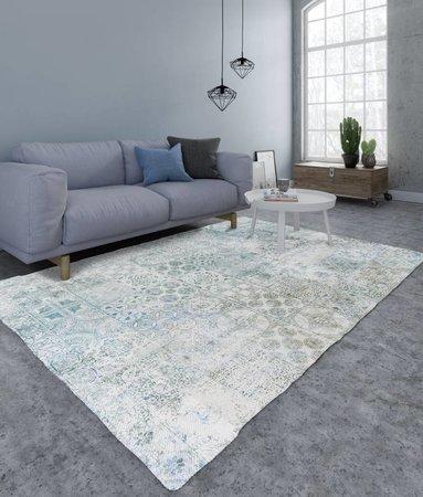Vloerkleed Mozaik Blauw