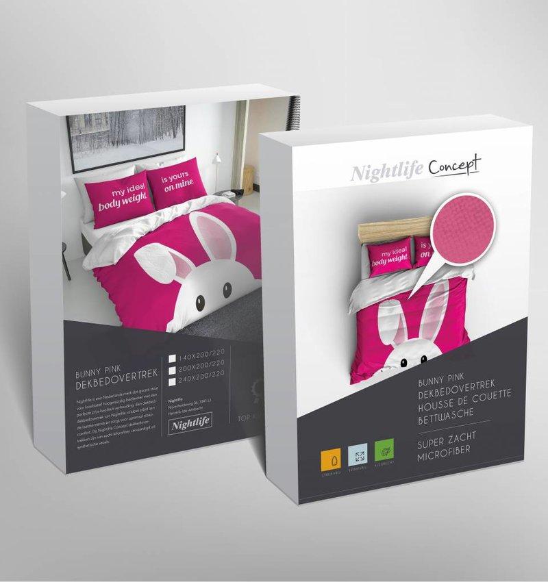 Nightlife Concept Dekbedovertrek Bunny Fuchsia