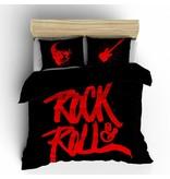 Nightlife Concept Dekbedovertrek Rock N Roll Rood