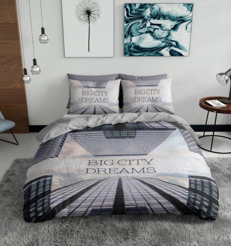 Nightlife Blue Dekbedovertrek Big City Dreams Multi