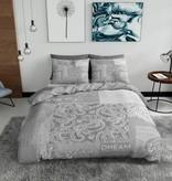 Nightlife Blue Dekbedovertrek Barok Patchwork Grijs