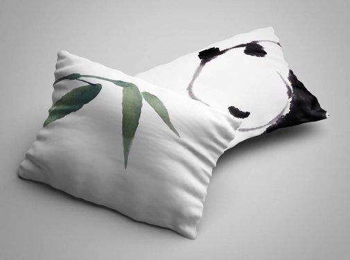 Nightlife Blue Kussenslopen Panda (2 stuks)