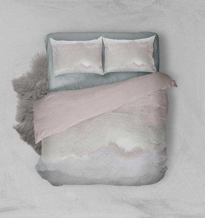 Nightlife Blue Dekbedovertrek Watercolor Roze