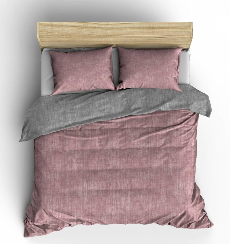Nightlife Fresh Dekbedovertrek Washcotton Roze Grijs