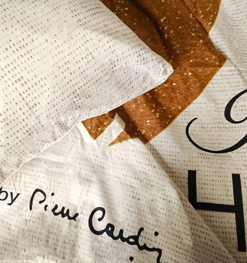 Pierre Cardin Dekbedovertrek Him / Her Ecru Goud