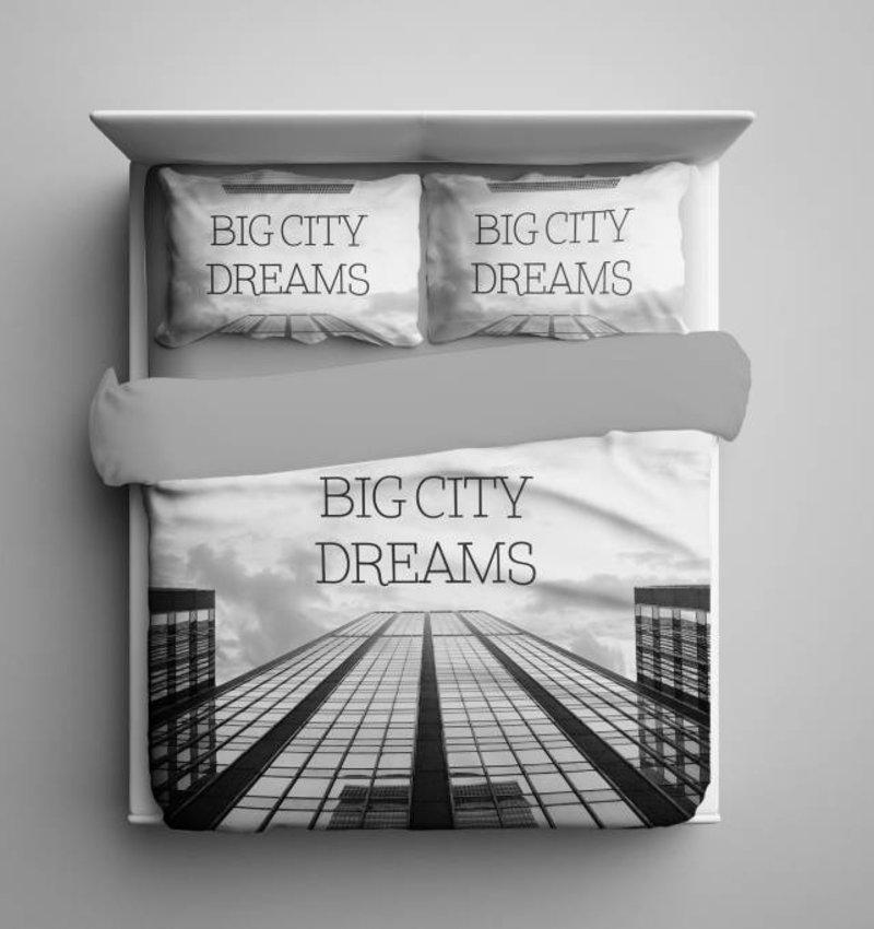 Nightlife Blue Dekbedovertrek Big City Dreams Grijs