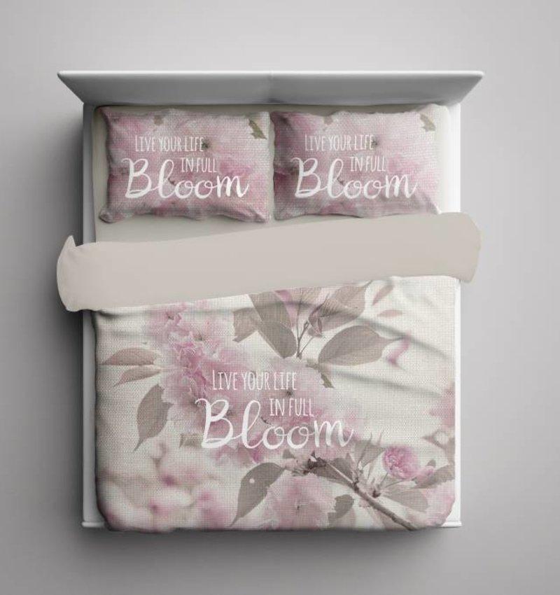 Nightlife Blue Dekbedovertrek Life in Bloom Beige