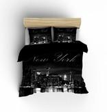 Nightlife Concept Dekbedovertrek New York Skyline Zwart