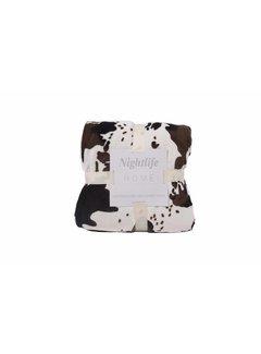 Nightlife Home Woondeken Koeienprint met Sherpa 150x200