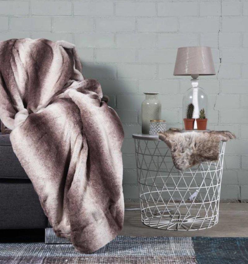 Nightlife Home Woondeken Faux Fur Taupe 150x200