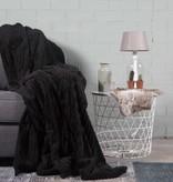 Nightlife Home Woondeken Flanel Rib Zwart 150x200