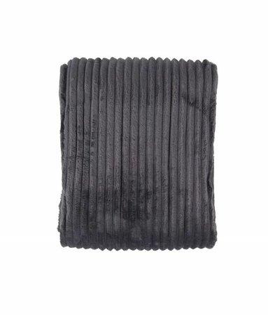 Woondeken Flanel Rib Antraciet 150x200