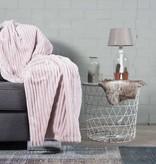 Nightlife Home Woondeken Flanel Rib Poeder Roze 150x200