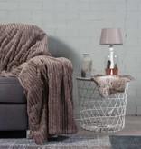 Nightlife Home Woondeken Flanel Rib Taupe 150x200