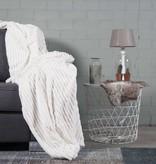 Nightlife Home Woondeken Flanel Rib Ecru 150x200