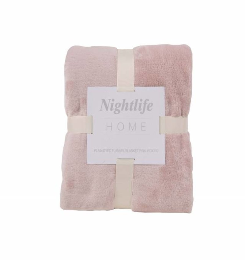 Nightlife Home Woondeken Fleece Poeder Roze