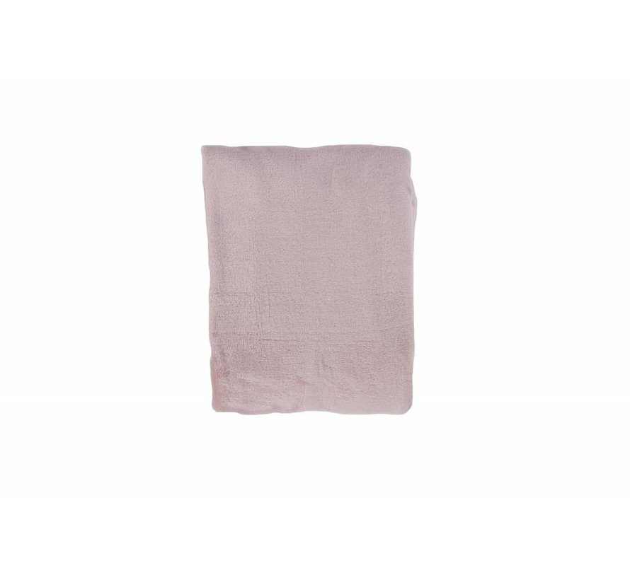 Woondeken Fleece Poeder Roze