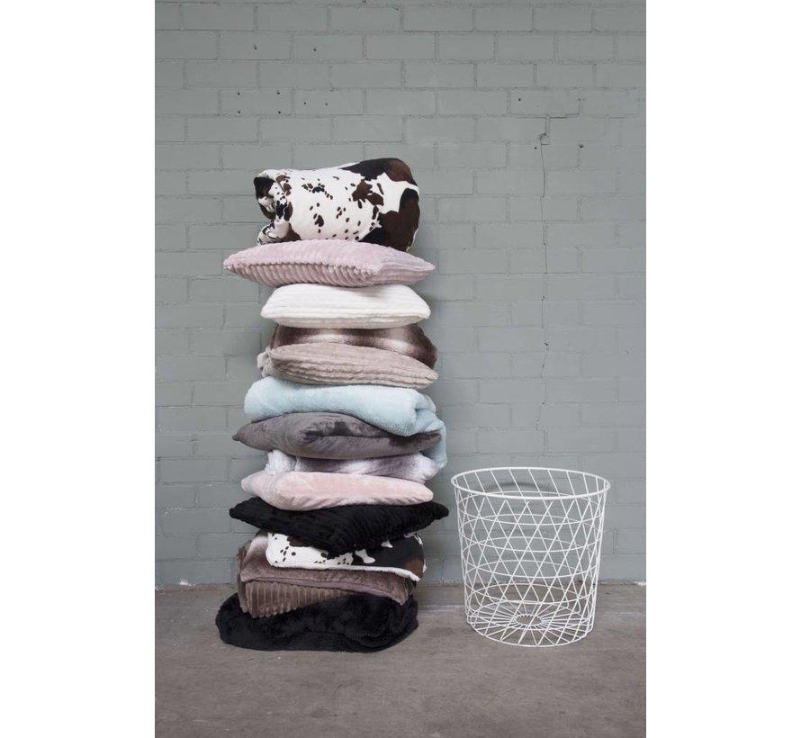 Woondeken Flanel Fleece Antraciet