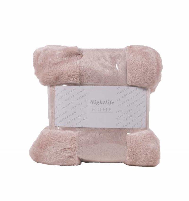 Nightlife Home Woondeken Fluffy Poeder Roze 150x200