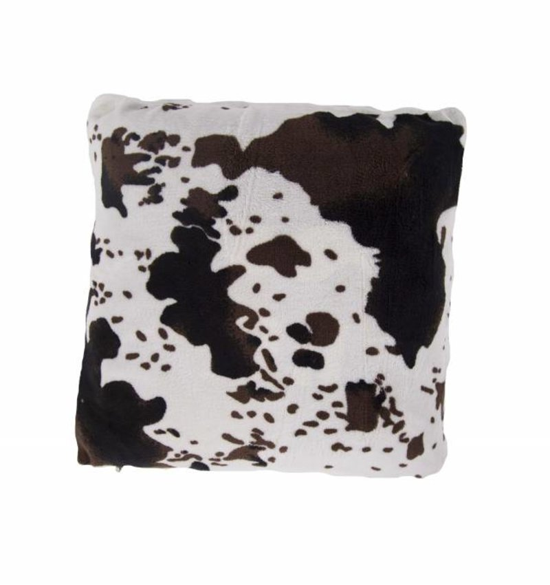 Nightlife Home Sierkussenhoes Koeienprint met Sherpa