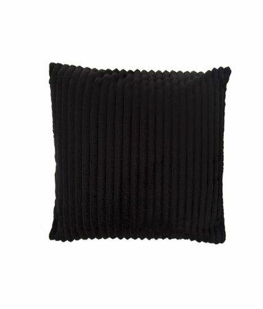 Sierkussenhoes Flanel Rib Zwart
