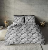 Nightlife Fresh Dekbedovertrek Fur Mozaik Grijs Flanel