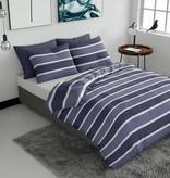 Pierre Cardin Dekbedovertrek Classic Stripe Blauw Flanel