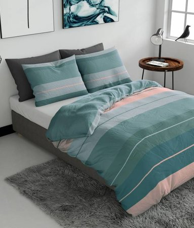 Striped Linen Groen Flanel