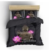 Nightlife Concept Dekbedovertrek Buddha Antraciet