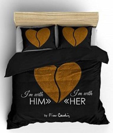 Him / Her Antraciet Goud