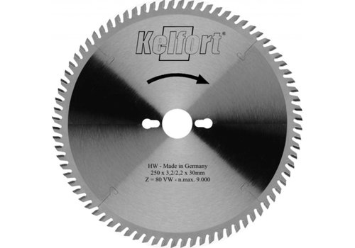 Kelfort Cirkelzaagblad 216mm TF (negatief) 60 tanden