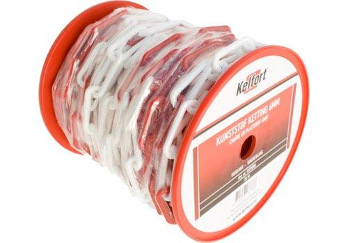 Kelfort PVC Ketting rood/wit 6MM per M
