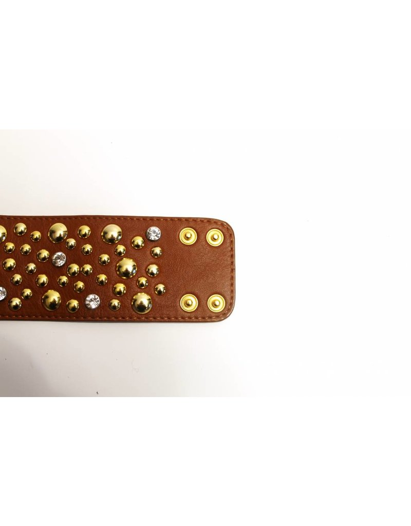 Armband Studs Bruin