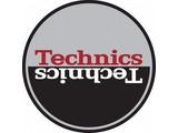 Technics Moon Red on Grey Slipmats