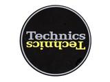 Technics Mirror Yellow on Black slipmatten
