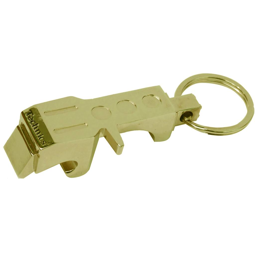technics headshell bottle opener luxury keyring gold green. Black Bedroom Furniture Sets. Home Design Ideas