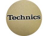 Technics Logo Black On Gold Slipmats