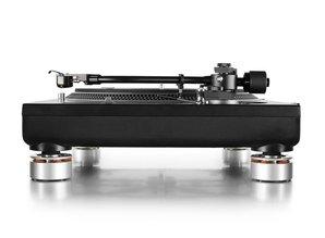Set of 4 Audio Isolation System Feet for all Technics SL1200 / SL1210 (silver)