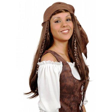 Pruik piratin lang haar