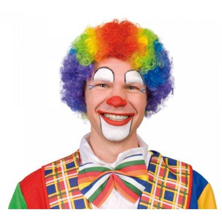 Clown pruik veelkleurig