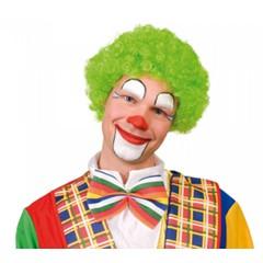 Pruik Clown Krul groen